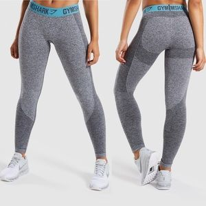 Gymshark Charcoal Teal Flex Leggings